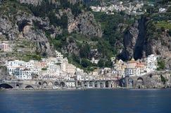 Costa de Atrani - de Amalfi - Italia Foto de archivo libre de regalías