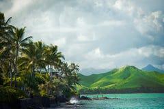 Costa de barlovento vacaciones de Oahu, Hawaii imagen de archivo