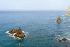 Costa de Benijo Imagem de Stock Royalty Free