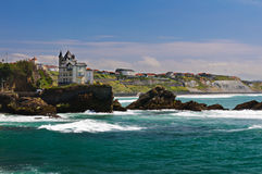 Costa de Biarritz Imagen de archivo libre de regalías