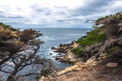 Costa de Big Sur/ponto de Pescadero na movimentação de 17 milhas Imagens de Stock