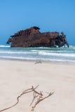 Costa de Boa Esperanca met schipbreuk Cabo Santa Maria - Boavist Stock Fotografie