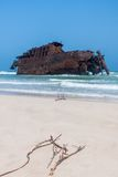 Costa de Boa Esperanca with shipwreck Cabo Santa Maria - Boavist Stock Photography