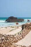 Costa de Boa Esperancawith shipwreck Cabo Santa Maria - Boavista Royalty Free Stock Photos