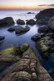Costa de Brava de la costa Imagen de archivo libre de regalías