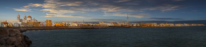 Costa de Cádiz fotos de archivo libres de regalías