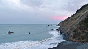 Costa de Califórnia do amanhecer video estoque