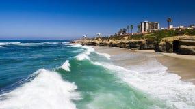 Costa de California, La Jolla Imagen de archivo libre de regalías