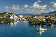 Costa de Castries fotografía de archivo libre de regalías