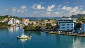Costa de Castries foto de archivo