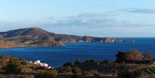 Costa de catalonia do francês Fotografia de Stock Royalty Free