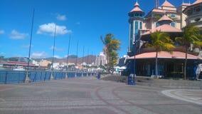 Costa de Caudan y x28; Mauritius& x29; Foto de archivo libre de regalías