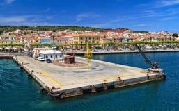 Costa de Cerdeña - de Carloforte fotografía de archivo libre de regalías