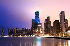 Costa de Chicago Imagen de archivo libre de regalías