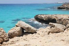 Costa de Chipre fotos de archivo