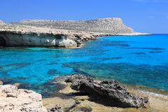 Costa de Chipre Fotografia de Stock