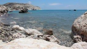 Costa de Chipre almacen de metraje de vídeo