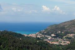 Costa de Cinque Terre em Liguria, Itália Fotografia de Stock Royalty Free