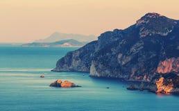 Costa de Corfu imagens de stock royalty free