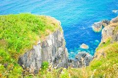 Costa de Cornualha em St Ives, Inglaterra fotografia de stock royalty free