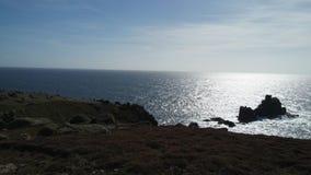 Costa de Cornualha, vista para o mar no dia ensolarado Imagem de Stock
