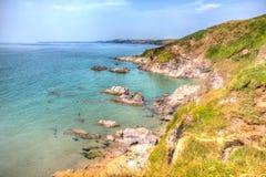 Costa de Cornualles Inglaterra de la bahía de Whitsand BRITÁNICA cerca a Plymouth Imagen de archivo libre de regalías