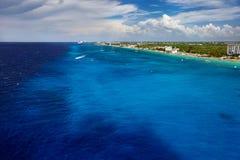 A costa de Cozumel em México imagens de stock