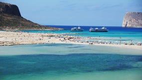 Costa costa de Crete - Elafonisi fotografía de archivo