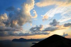 Costa de Crimeia oriental Fotografia de Stock