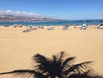 Costa de Der Canteras no Las Palmas Fotografia de Stock