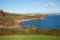 Costa de Devon a Torquay Inglaterra Reino Unido da angra de Salturn Foto de Stock