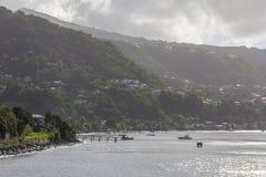 Costa de Dominica foto de archivo libre de regalías