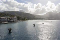 Costa de Dominica imagen de archivo