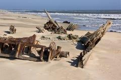 Costa de esqueleto - Namíbia fotografia de stock royalty free