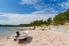 Costa de Finlandia Fotografia de Stock