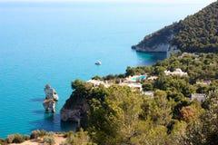Costa de Gargano, Apulia, Italia Foto de archivo libre de regalías