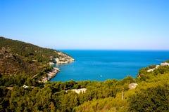 Costa de Gargano, Apulia, Italia Imagen de archivo libre de regalías