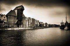 Costa de Gdansk con el tratamiento pasado de moda de la sepia Fotos de archivo
