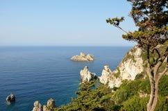 Costa de Grécia Fotografia de Stock