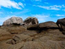 Costa de Granit Rosa Imagens de Stock