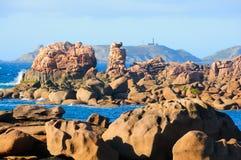 A costa de granito levantou-se Imagens de Stock Royalty Free