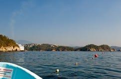 Costa de Huatulco vista de la nave imagen de archivo libre de regalías