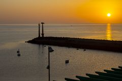 Costa de Ilhas Canárias de Lanzarote foto de stock royalty free