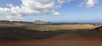 Costa de Ilhas Canárias de Lanzarote fotografia de stock royalty free