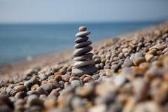 Os seixos em Chesil encalham, Dorset, Reino Unido Fotografia de Stock Royalty Free
