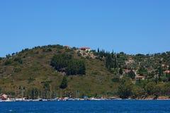 Costa de Ithaca Fotografia de Stock