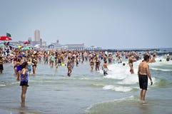 Costa de Jersey do relevo do verão Foto de Stock