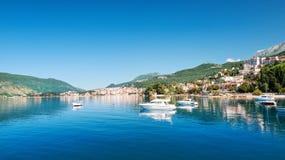 Costa de la ciudad Herzeg Novi, Montenegro Fotografía de archivo libre de regalías