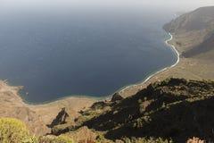 Costa de la isla del EL Hierro Imagenes de archivo