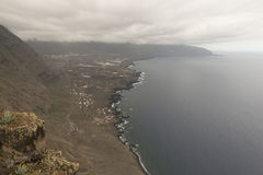 Costa de la isla del EL Hierro Foto de archivo